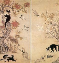Korean painting by Yi Am (16 century)
