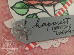 Happiest Birthday | Stampin' Up! | Remarkable You | Watercolor Wishes | Wacky Watercooler Blog Hop #literallymyjoy #2016OccasionsCatalog #2016SaleABration