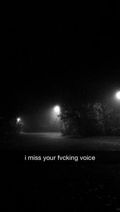 i miss your fucking voice