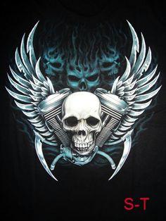 Harley Davidson Tattoos, Harley Davidson Art, Lion Wallpaper, Skull Wallpaper, Biker Tattoos, Skull Tattoos, Chevy Tattoo, Clover Tattoos, Sketch Tattoo Design