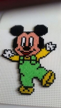 Baby Mickey Mouse hama beads by Pernille Henriksen