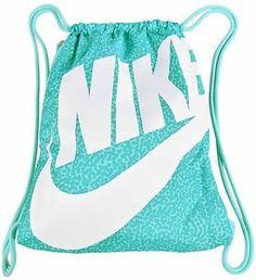 bf6f58d34e Nike Heritage Drawstring Gym Nap Sack Bag-Teal White