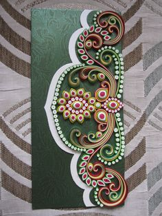 quilling.  Work by Kinnari Gada