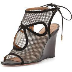 8756a7921db4 Aquazzura Sexy Thing Cutout Wedge Sandal (5 660 SEK) ❤ liked on Polyvore  Black