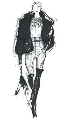 """Modern Dandy."" — Marissa Webb Sketch"