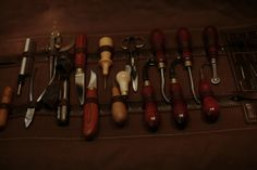 Burton On Trent, Tool Roll, Work Tools, Leather Tooling, Leather Craft, Purses, Wallet, Instruments, People