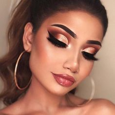 Prom makeup for brown eyes, gorgeous eyes, love makeup, gold makeup looks, Cute Makeup, Gorgeous Makeup, Gorgeous Eyes, Teen Makeup, Clown Makeup, Easy Makeup, Halloween Makeup, Devil Makeup, Witch Makeup