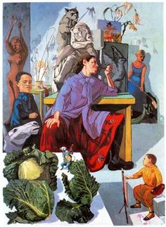 The Artist in her Studio 1993 Acrylic on canvas Paula Rego Its a portrait of a sculptress in her studio. Its in Leeds city art gallery. This is a portrait of Portugal! Art Gallery, Paula Rego Art, Art Painting, Artist Inspiration, Painting, Art, City Art, Art Uk, Figurative Art