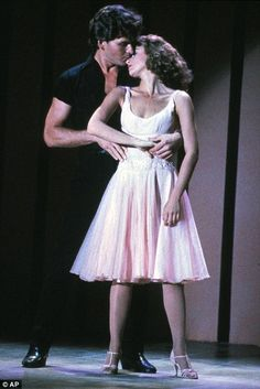Legend: Patrick Swayze shot to fame in the 1987 movie Dirty Dancing, pictured here with co-star Jennifer Grey