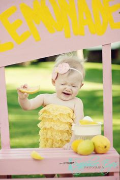 Pink Lemonade Stand First Birthday Party Theme