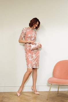 A perfect lace and floral dress for Mother of the bride