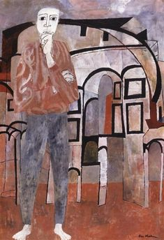blastedheath:  Ben Shahn (American, 1898-1969), Byzantine Isometric, 1951. Tempera on canvas.