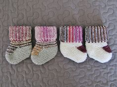 Oh! Baby Baby Booties #4 and #5