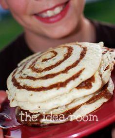 yum Cinnamon Swirl Pancakes