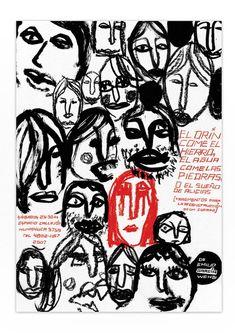 Theater Poster by Agustín Guerrero via Behance Graphic Design Posters, Graphic Design Illustration, Graphic Design Inspiration, Typography Design, Illustration Art, Plakat Design, Vintage Poster, Art Graphique, Grafik Design