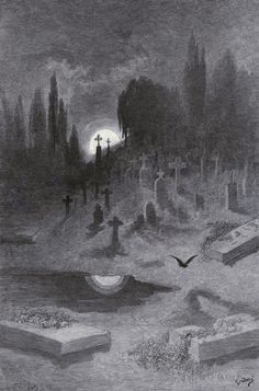 "Gustave Doré's Hauntingly Beautiful 1883 Illustrations for Edgar Allan Poe's ""The Raven"" 