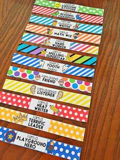 Brag Bracelets. Classroom Behavior Management Ideas