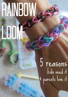 the rainbow loom: 5 reasons kids need it and parents love it #weteach | kid crafts