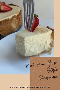 Healthy Dessert Recipes, Healthy Desserts, Just Desserts, Low Carb Recipes, Snack Recipes, New York Style Cheesecake, Classic Cheesecake, Gluten Free Cheesecake, Cheesecake Recipes
