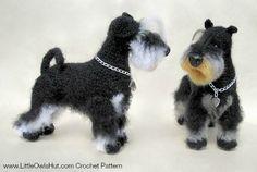 Miniature schnauzer dog crochet pattern by LittleOwlsHut