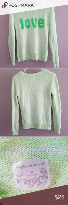 Justice Girls Hi Lo Knit Sweater