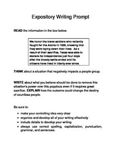 expository essay prompts 7th grade