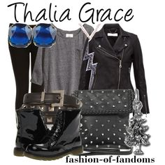 Outfit inspired by Thalia from Rick Riordan's Percy Jackson and the Olympians series