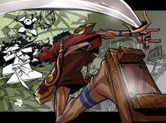 Samurai Champloo and monster