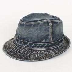 95c4c65ce82 Fedora Nw City Hunter Washed Cotton Fishing Denim Hat Men Jean Gangster Golf  Cap  ebay