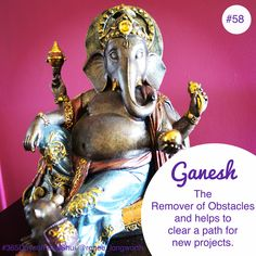 Day #58 Feng Shui (Sacred Space) Ganesh. Ahhhh Ganesh. One of my favourite Spiritual icons and one I really need to work with at the moment, hence why he is appearing today. Ganesh is mainly known to be the 'Remover of Obstacles', a Hindu God and for… - See more at: http://reneelongworth.com/blog/page/10/#sthash.aXHW1qhG.dpuf