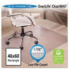 """ES Robbins Multi-Task AnchorBar Carpet Chair Mat - 46"""" x 60"""""""