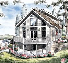 Elevation of Contemporary   House Plan 24704