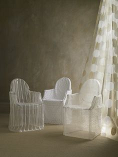 Ghost chairs with covers