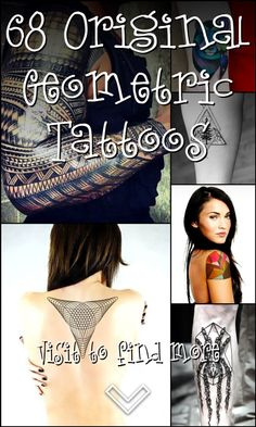 68 Original Geometric Tattoos Geometric Tattoo Flash, Geometric Tattoo Design, Skull Tattoos, Girl Tattoos, Tattoos For Guys, Cool Chest Tattoos, Feminine Tattoos, Most Popular Tattoos, Flower Of Life