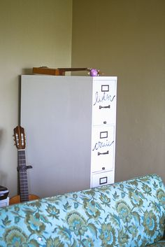 Labelled drawers | College Apartment Tour | karahaupt on Flickr