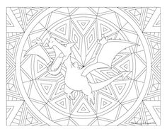 Adult Pokemon Coloring Page Aerodactyl