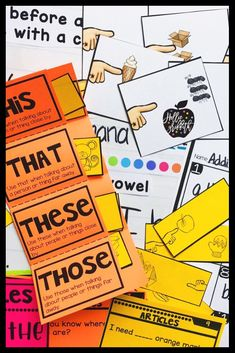 Teach students to use determiners with this engaging hands-on resource. This bundle includes seven days of mini lessons, anchor charts, partner games, interactive notebook pages, task cards, fold over books, practice sheets, and a quick assessment. This is a complete hands-on mini unit that will add fun and excitement to your classroom. #HollieGriffithTeaching #TeacherResources #1stGrade #Kindergarten