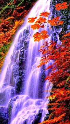 Wow orange waterfall