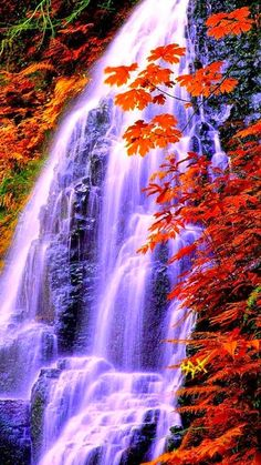 Wow orange waterfall