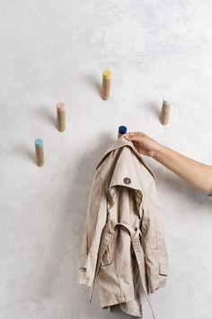 Wall Hooks Set Of Five entryway coat hooks by loopdesignstudio ...