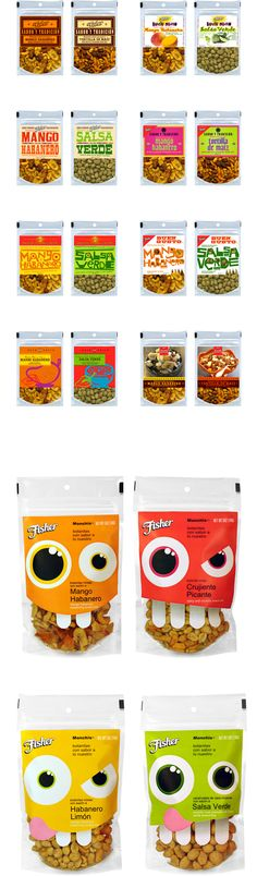 """Fisher Hispanic nuts by UNO Branding , via Behance *** A taste of home"""" is one way to describe what many Hispanic consumers are looking for when they make food purchasing decisions. Authentic flavors, fresh ingredients and foods that are reminiscent of home should be top of mind during research and development sessions..."""