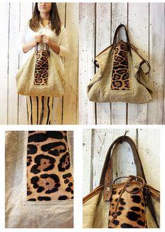 MONTECARLO BAG calf hair Handmade Italian por LaSellerieLimited