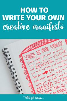 I write creative manifestos all the time to remind me to silence my inner critic and keep on doing the beautiful work of creating. Love this.