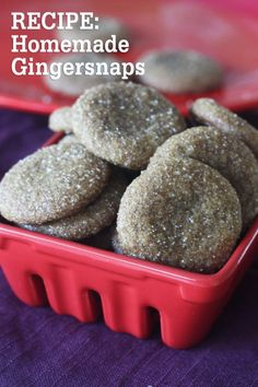 Chewy homemade gingersnaps recipe! To die for! #cookies