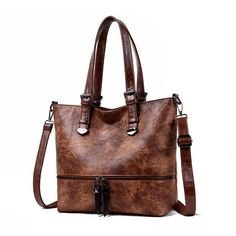 2019 New Women Handbag Leather Luxurious Female Shoulder Bag Designer Retro Women Messenger Bags High Quality Large Tote Clearance Handbags, Popular Bags, Types Of Bag, Artificial Leather, Vintage Handbags, Large Tote, Tote Handbags, Purse Wallet, Retro