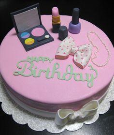 Make up themed cake I made.