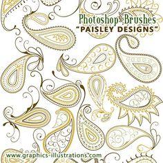 paisley tattoo | Paisley Designs Photoshop brushes set | Digital Art, Photoshop Brushes ...
