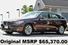 Car brand auctioned:BMW: 5-Series 535i xDrive Gran Turismo 2013 navigation rear view camera head up display damask red metallic auto awd