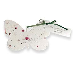 25 Butterfly Seed Paper Plantable Wedding by botanicalpaperworks