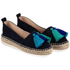 Air Grace Hula Tassel Espadrilles (415 ILS) ❤ liked on Polyvore featuring shoes, sandals, espadrille sandals, tassel sandals, tassel shoes and espadrilles shoes